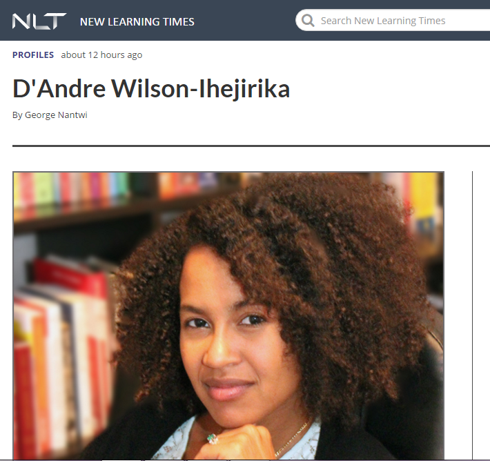 Feature in New LearningTimes